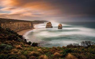 Бесплатные фото берег,океан,скала,камни,песок,мелководье,небо
