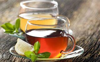 Фото бесплатно чай, лимон, долька