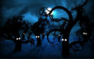 Фото бесплатно деревья, глаза, арт