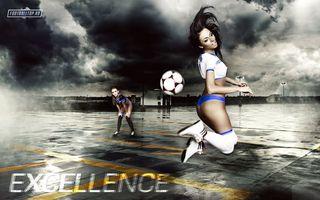 Фото бесплатно девушки, спорт, мяч