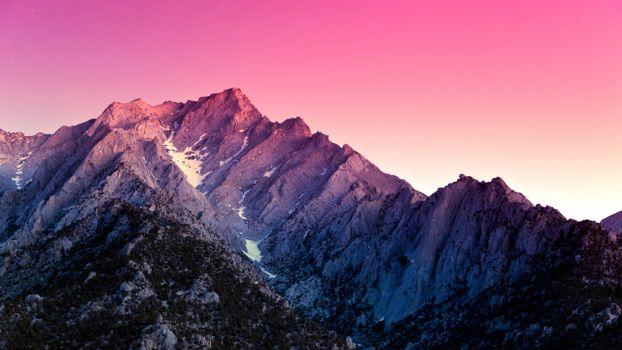 Бесплатные фото горы,небо,снег,деревья,скалы,пик,звезды,растения,природа,пейзажи
