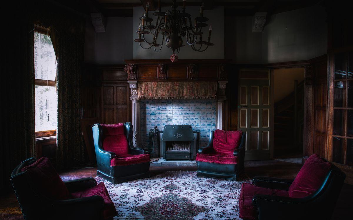 Фото бесплатно гостиная, кресла, камин - на рабочий стол
