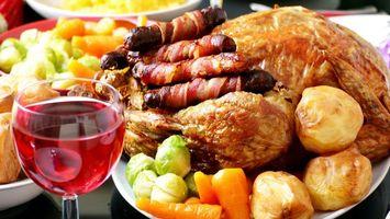Фото бесплатно курица, мясо, вино