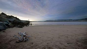 Бесплатные фото море,песок,берег,небо,горы,камни,природа