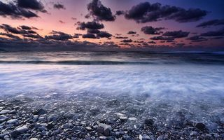 Заставки море,камни,пляж,берег,волны,вода,небо