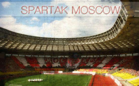 Бесплатные фото Москва,стадион,спартак,футбол,поле,трибуны,болельщики