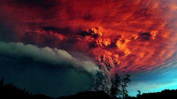 Бесплатные фото ночь,извержение,вулкан,природа