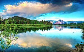 Бесплатные фото озеро,лес,горы,пейзажи