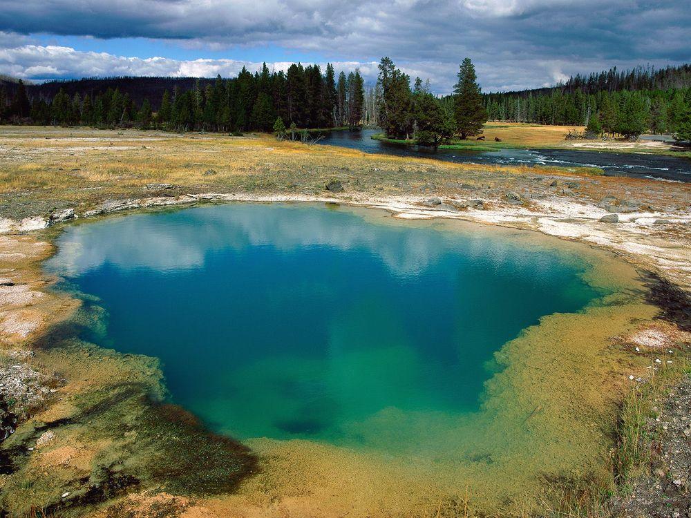 Фото бесплатно озеро, река, трава, лес, деревья, небо, облака, природа, природа