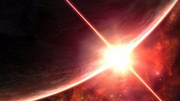 Фото бесплатно планета, звезда, восход