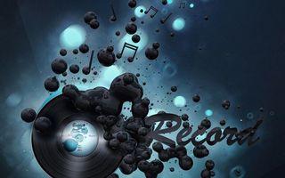 Photo free vinyl, inscription, record