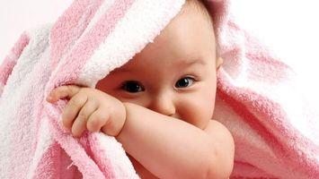Фото бесплатно полотенце, ребенок, малыш