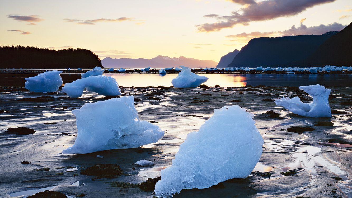 Фото бесплатно река, вода, лед - на рабочий стол