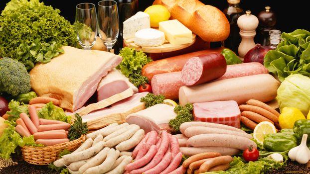 Фото бесплатно сосиски, колбаса, копчености