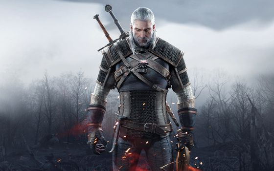 Photo free the witcher, witcher, face