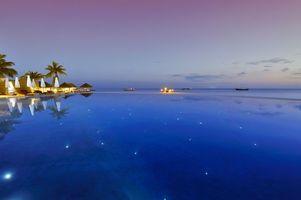 Фото бесплатно вечер, море, бассейн