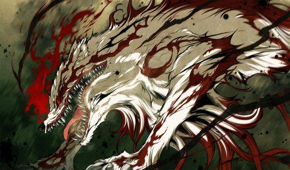 Фото бесплатно кровь, аниме, клыки