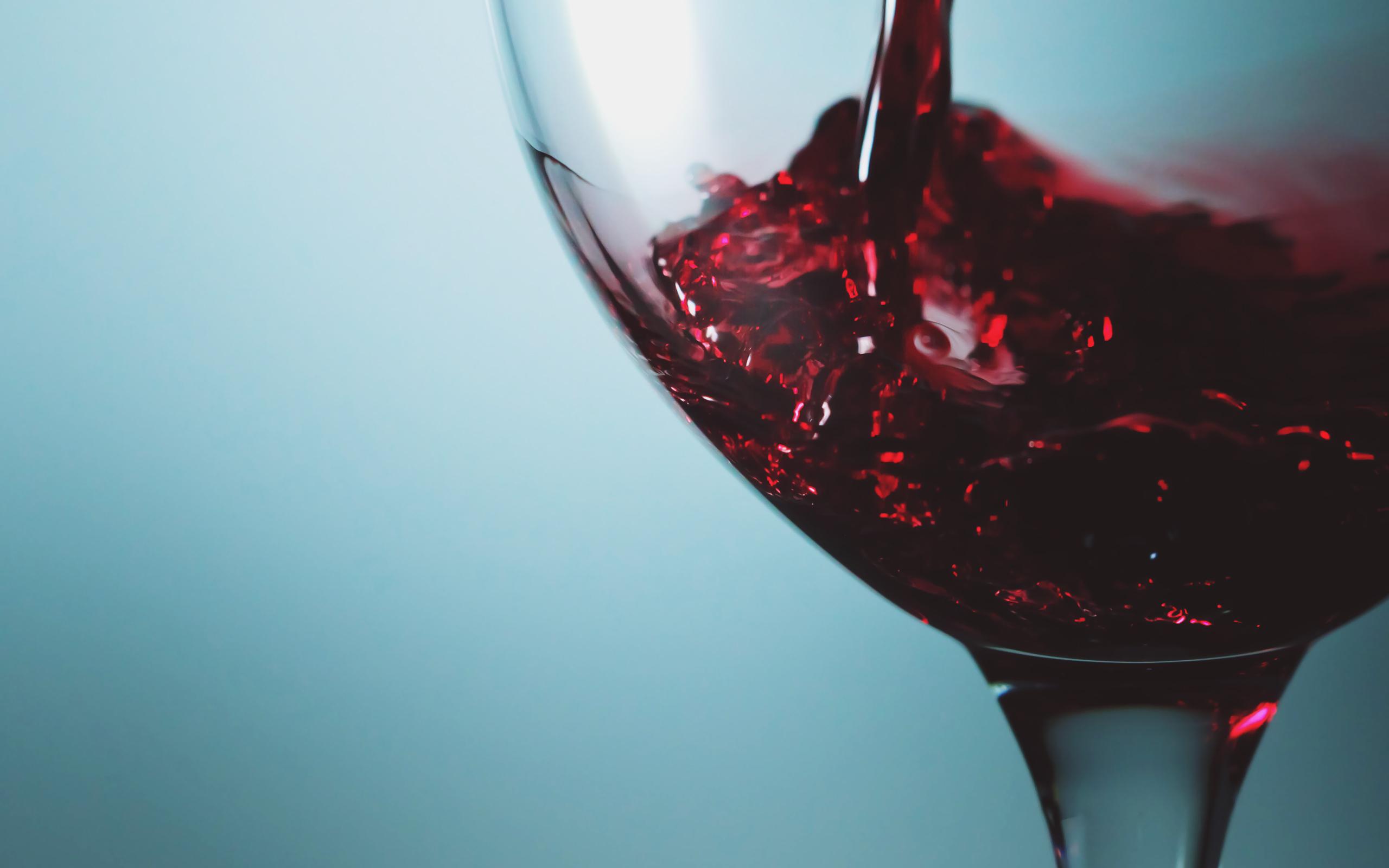 вино, бокал, голубой