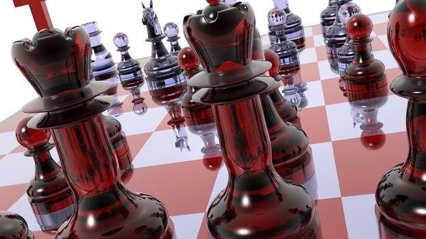 Фото бесплатно шахматы, фигуры, стекло
