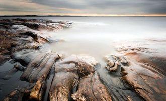 Бесплатные фото берег,море,скала,размытая,туман,вечер,пейзажи