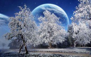 Заставки зима, звезды, небо