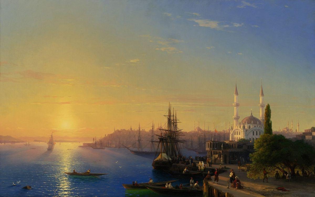 Фото бесплатно дома, здания, улицы, небо, облака, корабль, крыша, море, океан, деревья, город, город