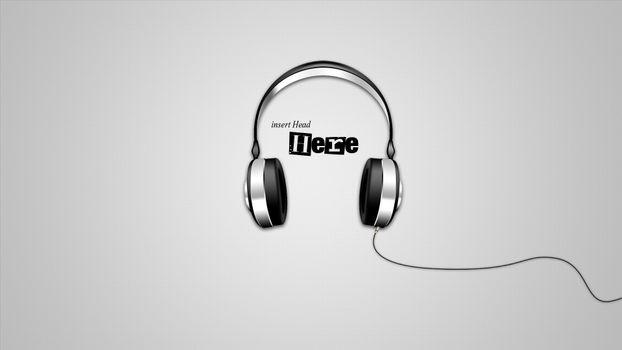 Photo free headphones, insert, head