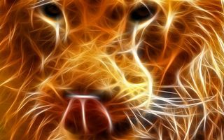 Фото бесплатно лев, в огне, из огня, черный фон, рендеринг