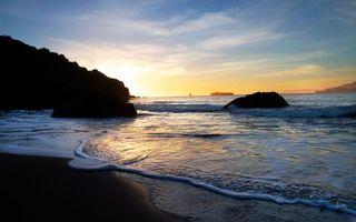 Фото бесплатно волны, песок, соль
