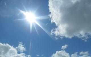 Заставки голубое, солнце, лучи