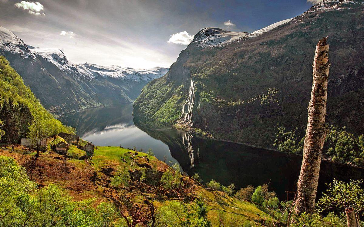 Фото бесплатно пейзаж, горы, река, пейзажи, пейзажи