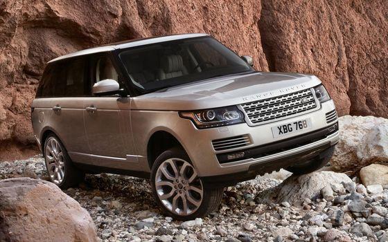 Бесплатные фото rang rover,джип.внедорожник,серебро,диски,посадка,камень,гора,машины