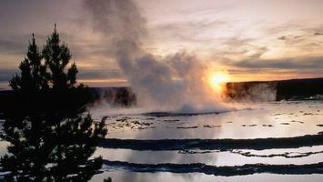 Бесплатные фото река, пар, вода, дерево, солнце, отражение, природа
