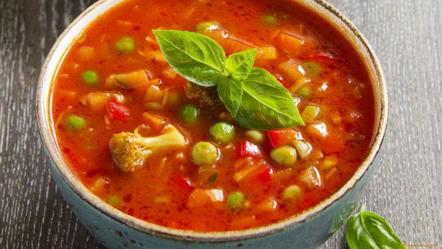 Заставки суп, оранжевый, зелень