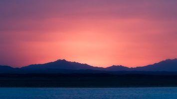 Бесплатные фото вода, море, горы, горизонт, красиво, закат, природа