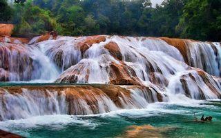 Бесплатные фото водопад,река,брызги,пороги,деревья,лес,джунгли