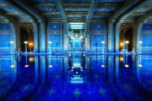 Photo free elite pool, blue, in patterns
