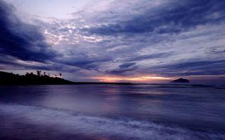 Фото бесплатно берег, море, вечер