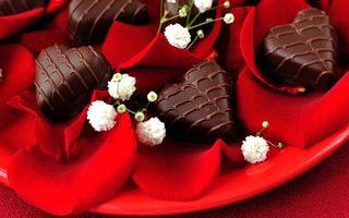 Бесплатные фото десерт,сладости,конфеты,шоколад,тарелка,лепестки,еда