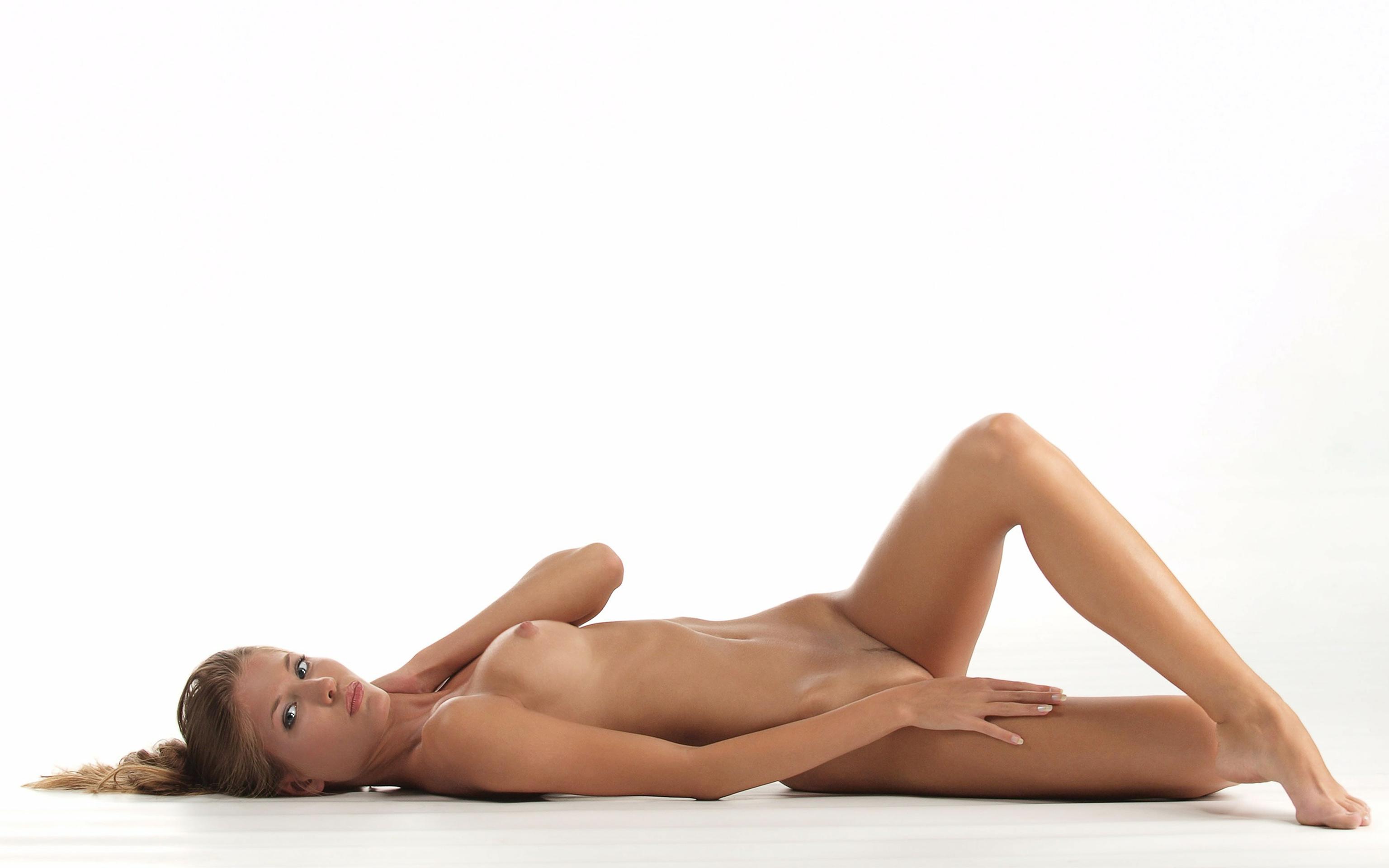 девушка, блондинка, голая