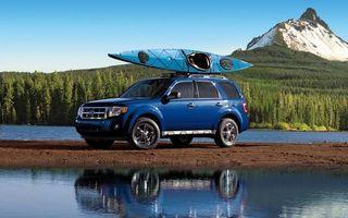 Фото бесплатно форд, синий, внедорожник