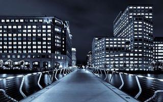 Бесплатные фото город,дорога,здания,мост,забор