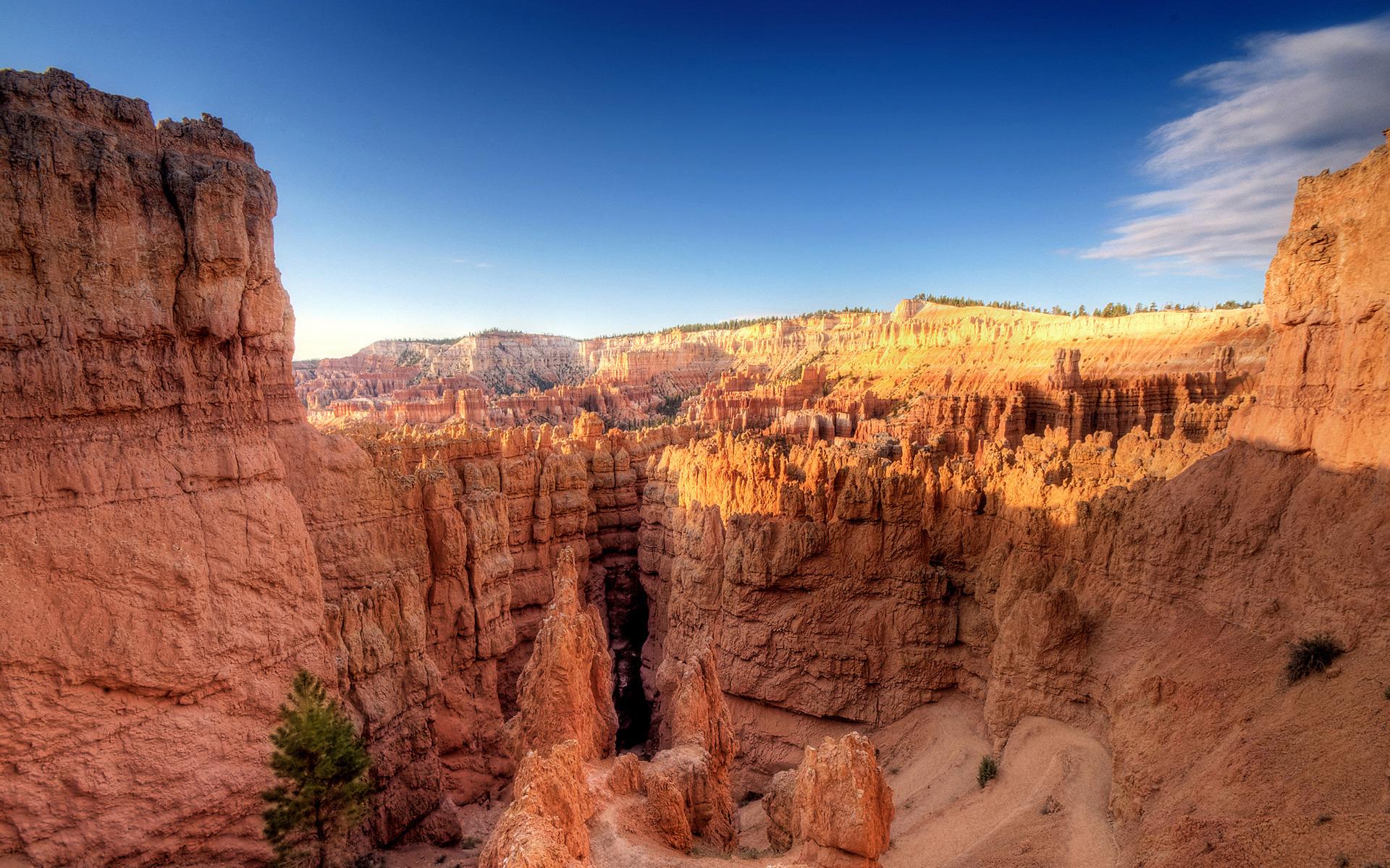 горы, каньон, песчанники