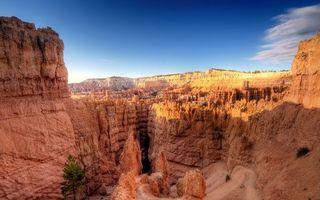 Бесплатные фото горы,каньон,песчанники,дерево,небо,облака,пейзажи