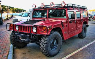 Фото бесплатно hummer, джип, красный, машины