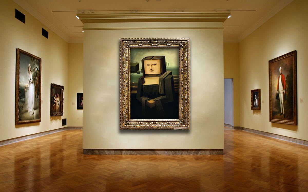 Фото бесплатно картинная, галерея, мона - на рабочий стол