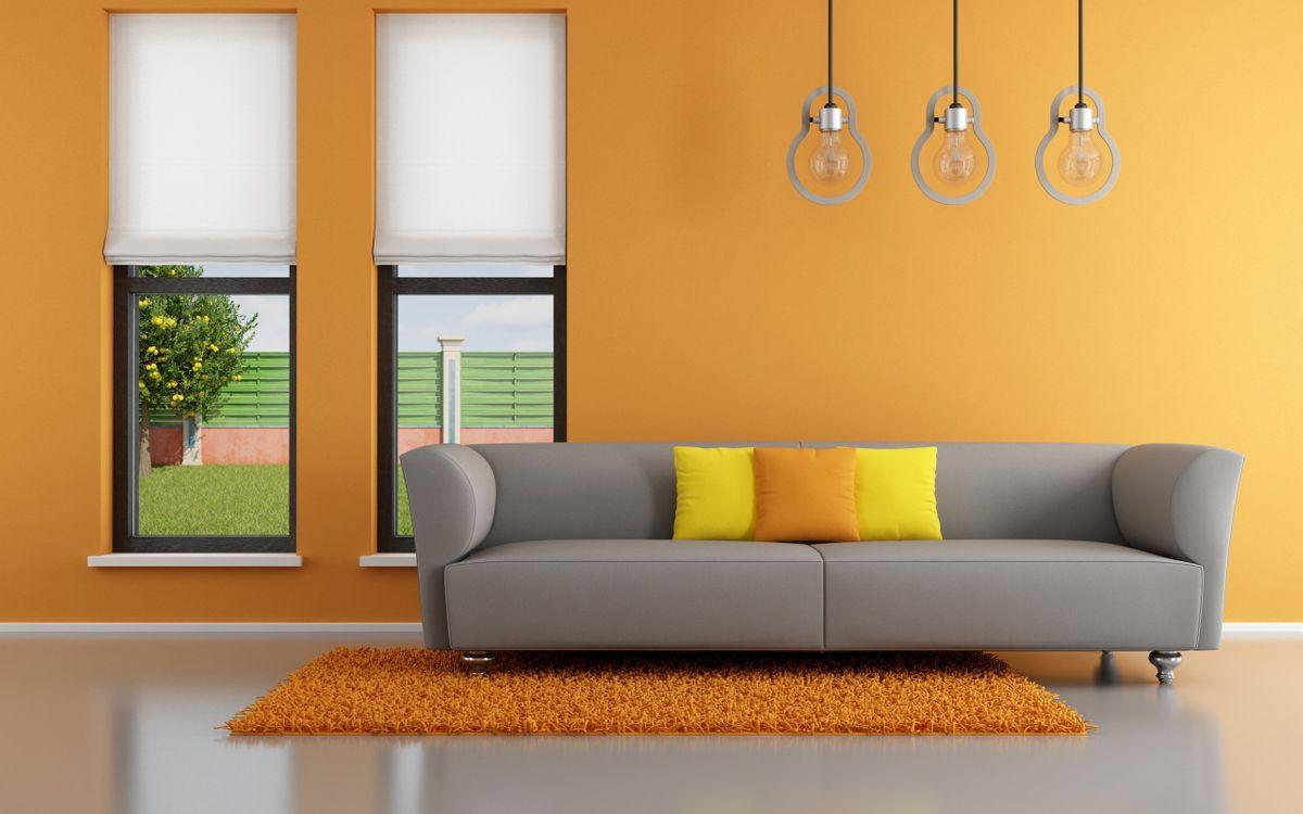 Фото бесплатно комната, диван, подушки - на рабочий стол