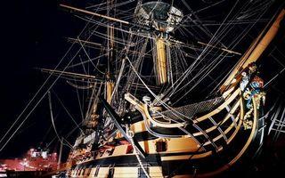 Фото бесплатно корабль, старинный, большой, красивый, необычный, ночь, разное