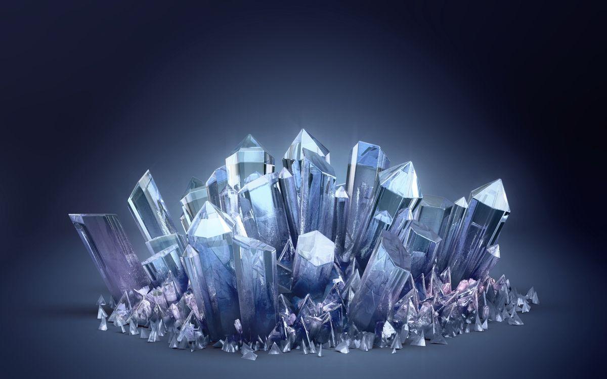 Фото бесплатно кристаллы, льдины, осколки, фон, синий, айсберг, лед, холод, абстракции, разное, разное
