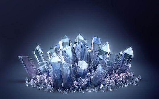 Фото бесплатно кристаллы, льдины, осколки, фон, синий, айсберг, лед, холод, абстракции, разное